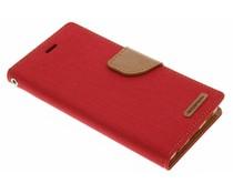 Mercury Goospery Canvas Diary Case für Huawei P9 - Rot