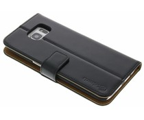 Selencia Luxus Leder Booktype Hülle für Samsung Galaxy S7 Edge - Schwarz