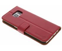 Selencia Luxus Leder Booktype Hülle für Samsung Galaxy S7 Edge - Rot