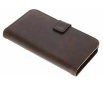 Braune Luxus Leder Booktype Hülle für Sony Xperia X Compact