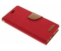 Mercury Goospery Rotes Canvas Diary Case für Samsung Galaxy S8