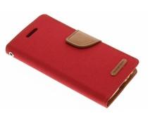 Mercury Goospery Rotes Canvas Diary Case für Samsung Galaxy A3 (2017)