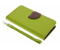 Grüne Blatt-Design TPU Booktype Hülle für Sony Xperia X
