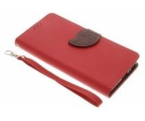 Rote Blatt-Design TPU Booktype Hülle für Sony Xperia XA