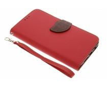 Rote Blatt-Design TPU Booktype Hülle für OnePlus 3 / 3T