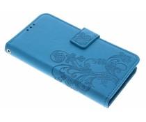 Türkise Kleeblumen Booktype Hülle für Sony Xperia X