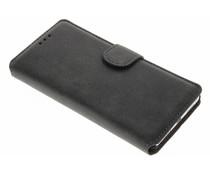 Schwarze Wildleder-Look Booktype Hülle für Huawei P9 Lite