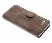 Luxus Wildleder Booktype Hülle für Huawei Y5 2 / Y6 2 Compact