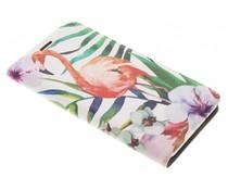 Flamingo Design Booklet für Samsung Galaxy J7 (2016)