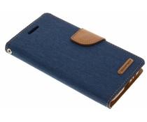 Mercury Goospery Blaues Canvas Diary Case Samsung Galaxy A5 (2017)