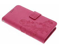 Fuchsiafarbene Kleeblumen Booktype Hülle für Sony Xperia X