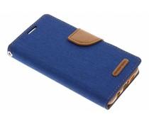 Mercury Goospery Blau Canvas Diary Case Samsung Galaxy A3 (2016)