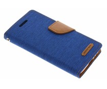 Mercury Goospery Blaues Canvas Diary Case Samsung Galaxy A3 (2017)