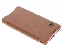 Nillkin Qin Leather Slim Booktype Hülle für Sony Xperia Z5 Compact - Braun