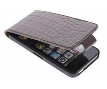 Valenta Flip Croco für das iPhone 5/5s/SE - Braun
