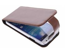 Valenta Flip classic luxe für das Samsung Galaxy S4 - Braun