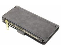 Graue luxuriöse Portemonnaie-Hülle für das Huawei P9 Lite