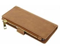 Braune luxuriöse Portemonnaie-Hülle für das Huawei P9 Lite