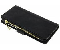 Schwarze luxuriöse Portemonnaie-Hülle für Huawei P10
