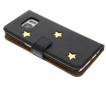 Fab. Gold Reversed Star Booktype für das Samsung Galaxy S7 Edge
