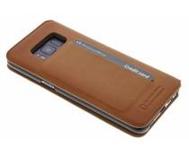 Bugatti Cognac Parigi Booklet Case für Samsung Galaxy S8