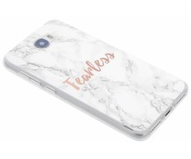 Zitat Marmor Design Fearless TPU Hülle für Huawei Y5 2/Y6 2 Compact