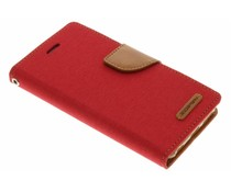 Mercury Goospery Canvas Diary Case für iPhone 6/6s - Rot