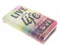 Live the Life Design TPU Portemonnaie für Samsung Galaxy S5 (Plus)/Neo