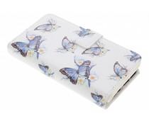 Schmetterling Design TPU Portemonnaie Samsung Galaxy S7 Edge