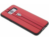 Ferrari Rotes Leatherette Hardcover für Samsung Galaxy S8 Plus