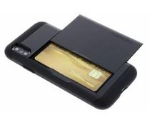 Spigen Schwarzes Slim Armor CS Case für das iPhone X
