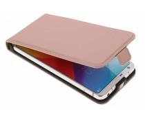 Selencia Rosé-goldenes Luxus Flipcase Flipcase für LG G6