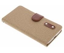 Leinen TPU Booktype Handyhülle für das Motorola Moto G4 (Plus)