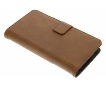 Braune Luxus Leder Booktype Hülle für Motorola Moto G4 Play