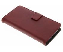 Luxus Leder Booktype Hülle Rot für Motorola Moto G4 Play
