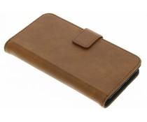 Braune Luxus Leder Booktype Hülle für iPhone 6