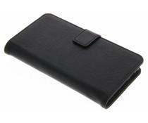 Schwarze Luxus Leder Booktype Hülle für Huawei P8 Lite