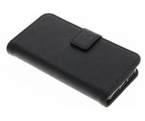 Schwarze Luxus Leder Booktype Hülle für iPhone 5 / 5s / SE