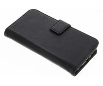 Schwarze Luxus Leder Booktype Hülle für iPhone 6 / 6s