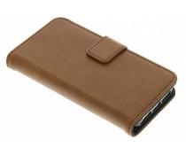 Braune Luxus Leder Booktype Hülle für iPhone 5 / 5s / SE