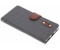 Dunkelbraune Luxus Leder Booktype Hülle für OnePlus 5