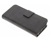 Luxuriöse Leder Booktype Hülle Grau für iPhone 5 / 5s / SE