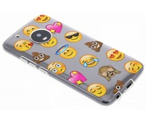Emoji Design TPU Hülle für Motorola Moto G5 Plus