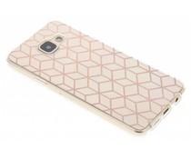Cubes Rosé-Gold Design TPU Hülle Samsung Galaxy A3 (2016)