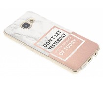 Marmor Zitat Design TPU Hülle für Samsung Galaxy A3 (2016)