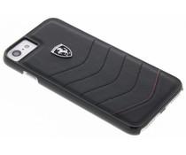 Ferrari Schwarzer Scuderia Leather Hard Case iPhone 8 / 7