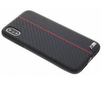 BMW Schwarzer / Roter M Line Carbon Hard Case iPhone Xs / X