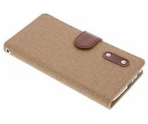 Leinen TPU Booktype Handyhülle für das Motorola Moto G5 Plus