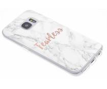 Zitat Marmor Design Fearless TPU Hülle für Samsung Galaxy S7