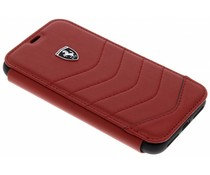 Ferrari Rotes Heritage Leather Book Cover iPhone X